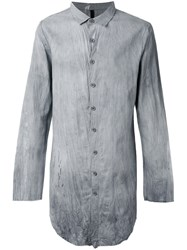 Army Of Me Crumpled Long Shirt Men Cotton Linen Flax S Grey