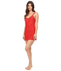 B.Tempt'd Lace Kiss Chemise Tango Red Women's Pajama