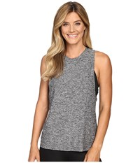 Beyond Yoga Twisted Open Back Tank Top Black White Women's Sleeveless