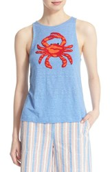 Women's Tory Burch Crab Linen Tank