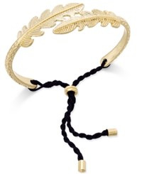 Inc International Concepts Gold Tone Adjustable Feather Bracelet Only At Macy's
