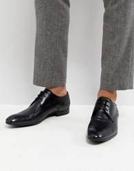 Base London Elgar Leather Derby Shoes In Black