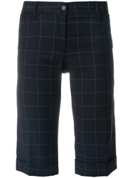 Dolce And Gabbana Vintage Windowpane Check Shorts Blue