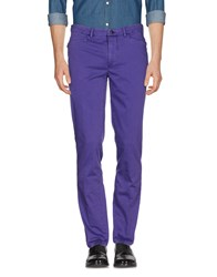 Versace Collection Casual Pants Purple