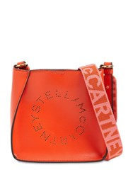 Stella Mccartney Hobo Logo Faux Leather Shoulder Bag Flame
