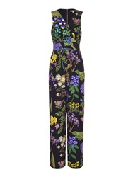 Yumi Tropical Floral Jumpsuit Multi Coloured Multi Coloured