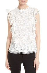 Ted Baker Women's London Zania Lace Top White