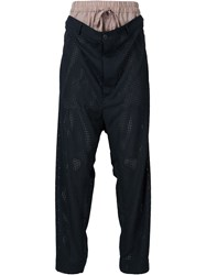 Vivienne Westwood Man Layered Loose Trousers Blue
