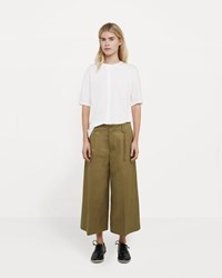 08Sircus Cotton Linen Ramie Wide Cropped Pants