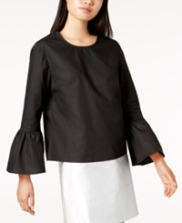 Glam Cotton Bell Sleeve Top Black