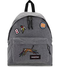 Eastpak Padded Pak'r Backpack Grey Patched