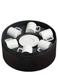 L'objet Soie Tressee Set Of 6 Cup And Saucers