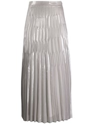 Lorena Antoniazzi Pleated Skirt Silver