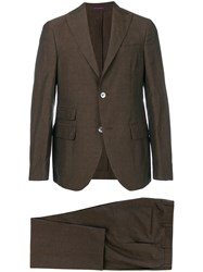 The Gigi Two Piece Suit Brown