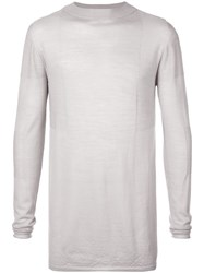 Rick Owens Stretch Long Sleeved Top Grey