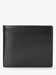 Launer Leather Four Credit Card Coin Wallet Ebony Black