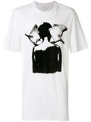 Lost And Found Ria Dunn Pigeon Graphic Print T Shirt White
