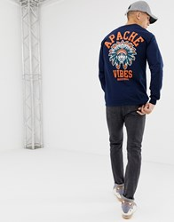 Cheats And Thieves Apache Vibes Long Sleeve T Shirt Navy