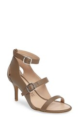 Sole Society Women's Carnie Scalloped Strappy Sandal Taupe