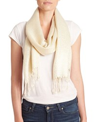Collection 18 Metallic Swirl Scarf Ivory