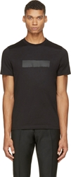 Kris Van Assche Black Single Stripe T Shirt