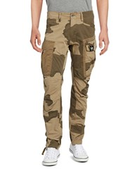 G Star Camouflage Cargo Pants Beige
