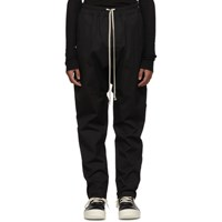 Rick Owens Black Drawstring Long Trousers