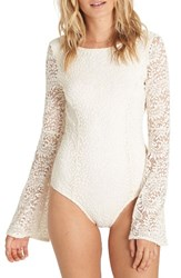 Billabong Women's Eternal Bliss Crochet Lace Bodysuit