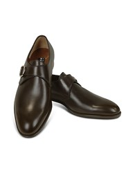 Fratelli Rossetti Dark Brown Calf Leather Monk Strap Shoes