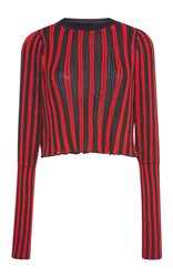 Sonia Rykiel Vertical Ribbed Striped Pullover