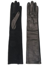 Emporio Armani Long Fitted Gloves Black