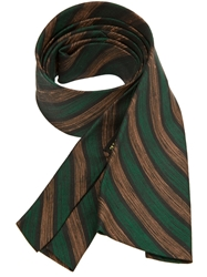 Pierre Cardin Vintage Striped Tie Green