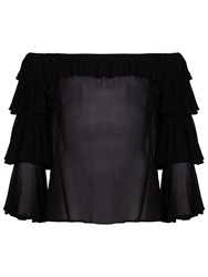 Ghost Kat Frill Top Black