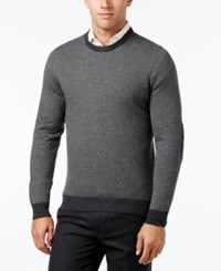 Tasso Elba Men's Cotton Cashmere Sweater Only At Macy's Steel Onyx Combo