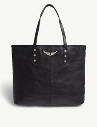 Zadig And Voltaire Mick Leather Tote Bag Noir