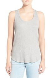 Women's Velvet By Graham And Spencer Thermal Knit Tank Heather Grey
