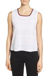Ming Wang Women's Tipped Square Neck Tank