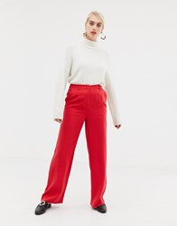Selected Fraven Wide Leg Trousers Red
