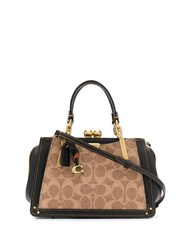 Coach Kisslock Dreamer 21 Bag Brown