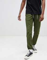 Esprit Chino Jogger With Cuffed Hem Green