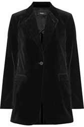 Theory Berdyne B Stretch Cotton Velvet Blazer Black