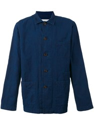 Universal Works Denim Shirt Men Cotton S Blue