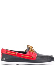 Sperry Top Sider Lace Up Boat Shoes Blue