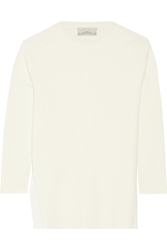 Studio Nicholson Toza Split Side Merino Wool And Cotton Top