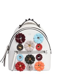 Fendi Mini Flower Appliques Leather Backpack