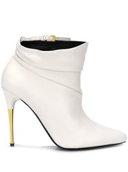 Tom Ford Stiletto Ankle Boots White