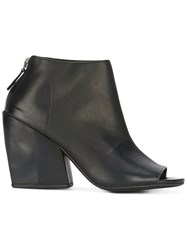 Marsell Open Toe Boots Black