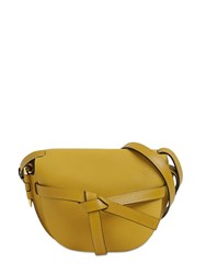 Loewe Gate Small Grained Leather Bag Ochre