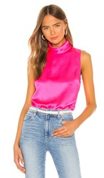 Amanda Uprichard Fleurette Top In Pink. Pink Lacquer