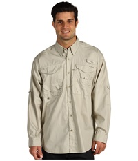 Columbia Bonehead L S Shirt Fossil Men's Long Sleeve Button Up Beige